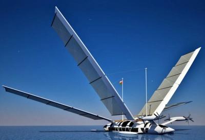 гибрид яхты и самолеты